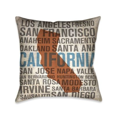 Laural Home® State California Square Throw Pillow