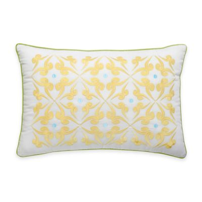Southern Tide® Chloe Dot Oblong Throw Pillow in White/Yellow
