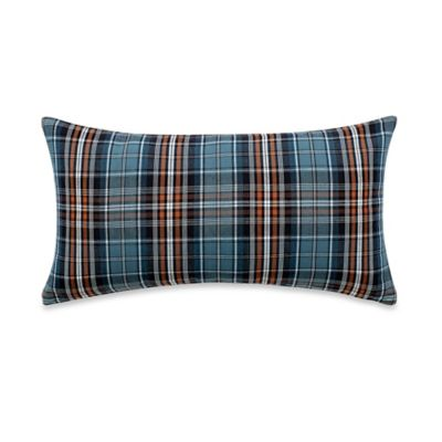 Plaid Oblong Throw Pillow