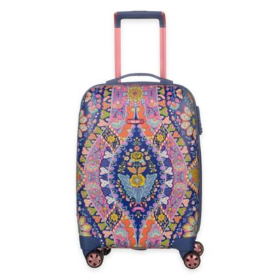 Oilily® Travel 19-Inch Carry On Trolley Suitcase in Navy