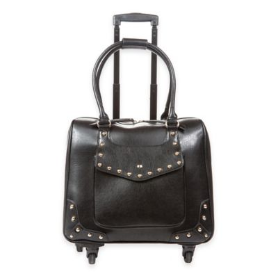 Hang Accessories Fashion Trolley Bag in Black with Gold Studs