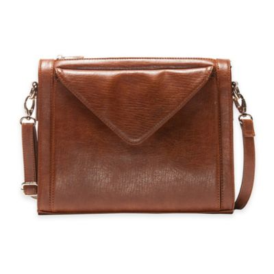 Hang Accessories Crossbody Tablet Bag in Cognac
