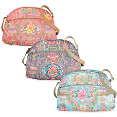 Oilily® Fun Paisley Extra-Small Flat Shoulder Bag in Iron