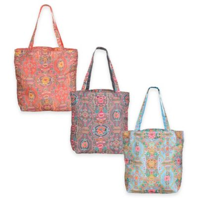 Oilily® Fun Paisley Folding Shopper Tote in Coral