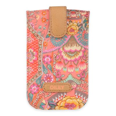 Oilily® Fun Paisley Smartphone Pull Case in Coral