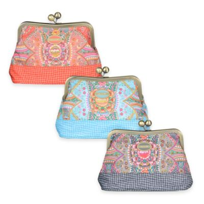 Oilily® Fun Paisley Frame Cosmetic Bag in Lagoon