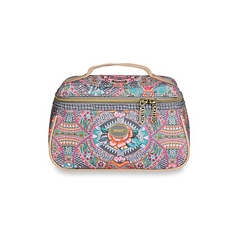 buy oilily fun paisley beauty case in iron from bed bath beyond. Black Bedroom Furniture Sets. Home Design Ideas