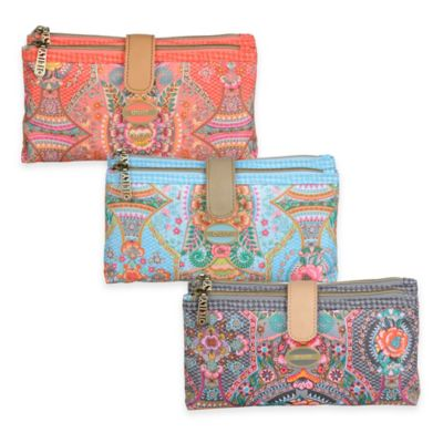 Oilily® Fun Paisley Double Flat Cosmetic Bag in Coral