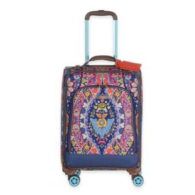 Oilily® Travel Expandable 21-Inch Softshell Carry On Trolley in Navy