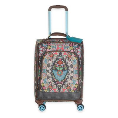 Oilily® Travel Expandable 21-Inch Softshell Carry On Trolley in Charcoal