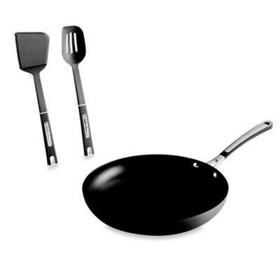 Simply Calphalon® Nonstick 12-Inch Omelet Pan with Two Bonus Utensils