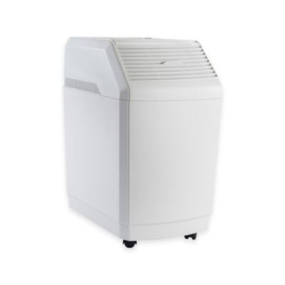 Essick Air AIRCARE Evaporative Space-Saver Pedestal Humidifier in White