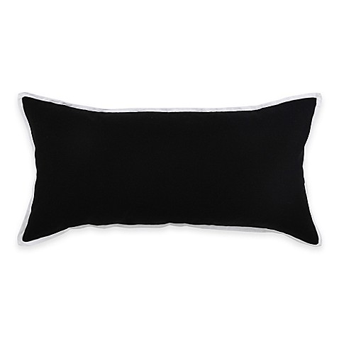 Throw Pillow Bolster : Buy Vince Camuto Basel Signature Bolster Throw Pillow in Black/White from Bed Bath & Beyond