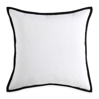 Vince Camuto® Basel Textured Square Throw Pillow in White/Black