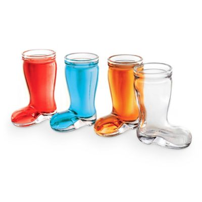 Mini Beer Das Boot Shot Glasses in Multi (Set of 4)