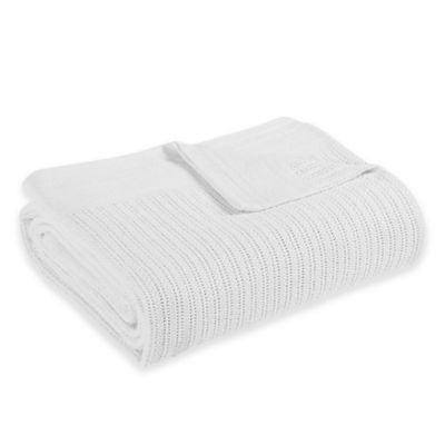 Fiesta® Twin Blanket in White