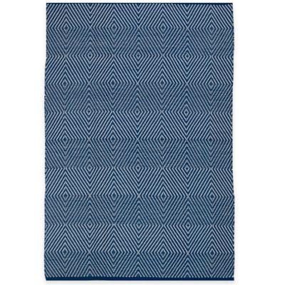 Fab Habitat Zen 2-Foot 5-Inch x 8-Foot Indoor/Outdoor Runner in Blue & White