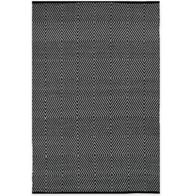 Fab Habitat Zen Cotton 2-Foot x 3-Foot Indoor/Outdoor Rug in Black/Bright White