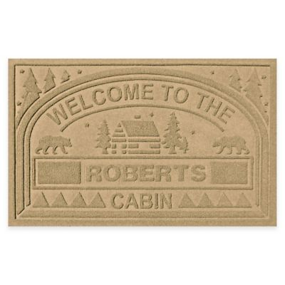 "Weather Guard™ ""Welcome to the Cabin"" 23-Inch x 36-Inch Door Mat in Gold"