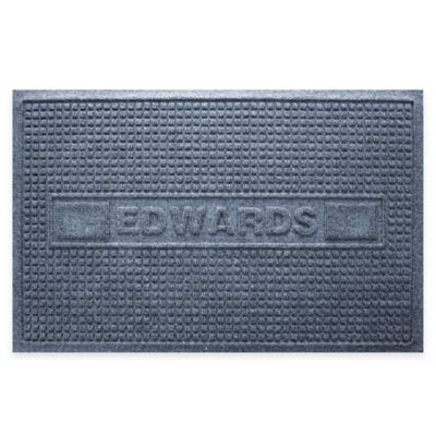 Weather Guard™ Squares 23-Inch x 36-Inch Door Mat in Blue Stone