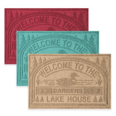 "Weather Guard™ ""Welcome to the Lake House"" 30-Inch x 45-Inch Door Mat in Camel"