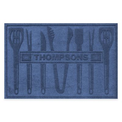 Weather Guard™ BBQ Tools 30-Inch x 45-Inch Mat in Navy
