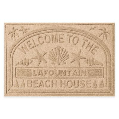 "Weather Guard™ ""Welcome to the Beach House"" 30-Inch x 45-Inch Door Mat in Camel"
