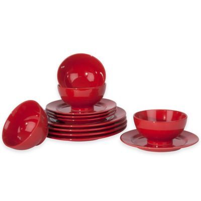 Waechtersbach Fun Factory 12-Piece Dinnerware Set in Red
