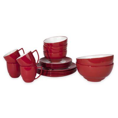 Waechtersbach Uno 18-Piece Dinnerware Set in Red