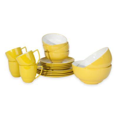 Waechtersbach Uno 18-Piece Dinnerware Set in Yellow