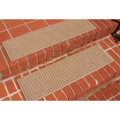 Weather Guard™ Squares Stair Treads in Red/Black (Set of 2)