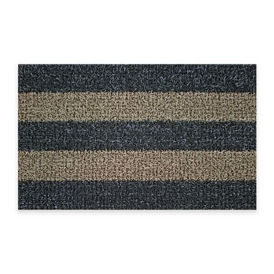 Clean Machine® 18-Inch x 30-Inch Patio Striped Scraper Doormat in Brown/Taupe