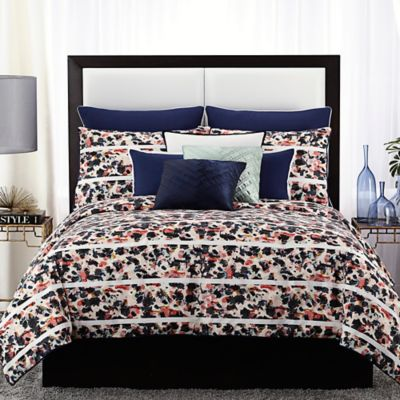 Vince Camuto Messina Full/Queen Comforter Set in Navy