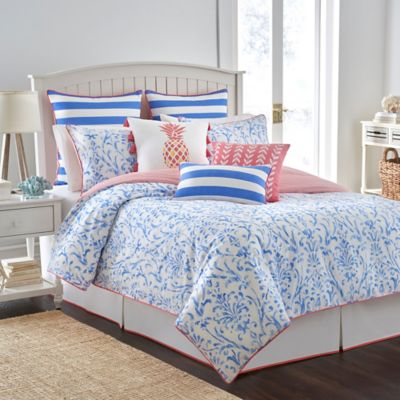 Southern Tide® Coastal Ikat Reversible Twin Comforter Set in Cool Blue