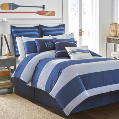 Southern Tide® Dock Street Stripe Reversible Twin Comforter Set in Blue