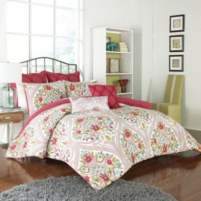 Vue™ Paris 4-Piece Reversible Twin Comforter Set in Multi