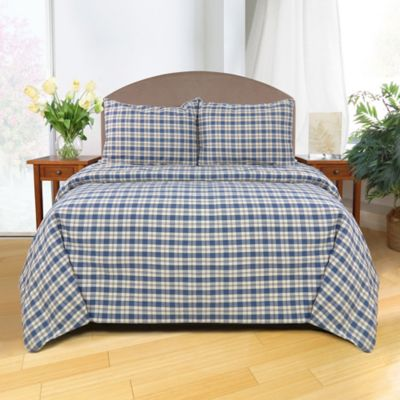 Plaid Duvet Bed