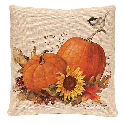 Heritage Lace 174 Harvest Pumpkin Square Throw Pillow Www