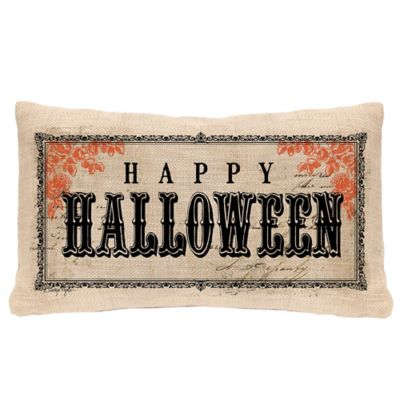 "Heritage Lace® Vintage ""Happy Halloween"" Oblong Throw Pillow"