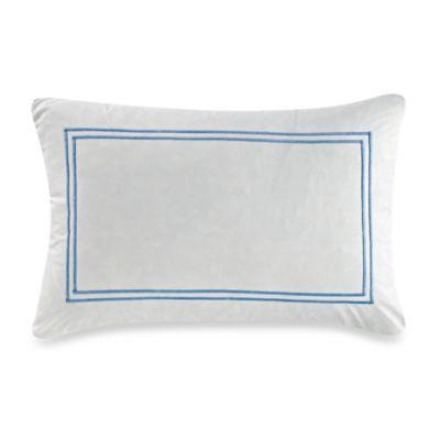 Bellora® Bia Double Border Oblong Throw Pillow in White