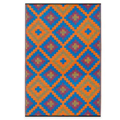 Fab Habitat Saman 4-Foot x 6-Foot Indoor/Outdoor Rug in Orange & Violet
