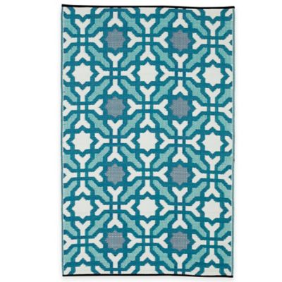 Fab Habitat Seville 5-Foot x 8-Foot Indoor/Outdoor Rug in Blue