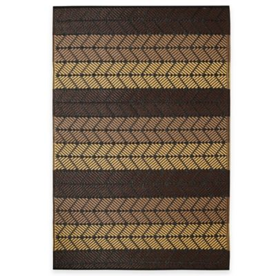 Fab Habitat Seattle 3-Foot x 5-Foot Indoor/Outdoor Area Rug in Chestnut & Summer Melon