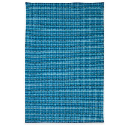 Fab Habitat Theory 8-Foot x 10-Foot Cotton Area Rug in Blue