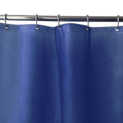 Shimmer PEVA Shower Curtain Liner in Navy