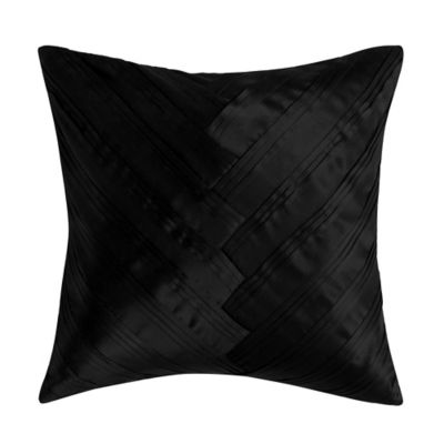 Vince Camuto Lucerne Signature V Square Throw Pillow in Black