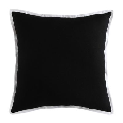 Vince Camuto Lucerne Textured Square Throw Pillow in Black