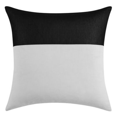 Vince Camuto Lucerne Square Throw Pillow in Black/White