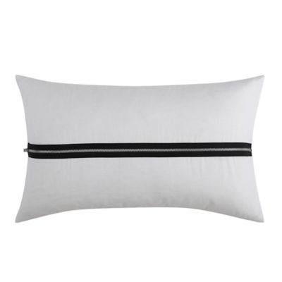 Vince Camuto Lucerne Zipper Oblong Throw Pillow in White