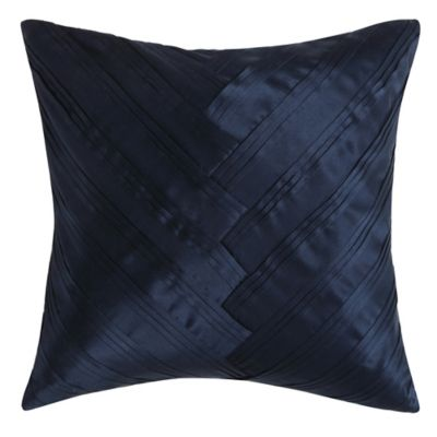 Vince Camuto Messina Signature V Square Throw Pillow in Navy